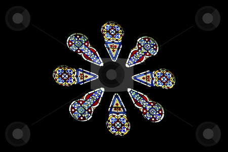 Glass stock photo, Old glass from a church in malta by Rui Vale de Sousa