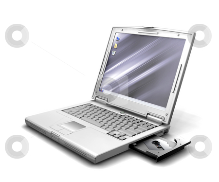 Laptop stock photo, 3D render of a generic laptop by Kirsty Pargeter