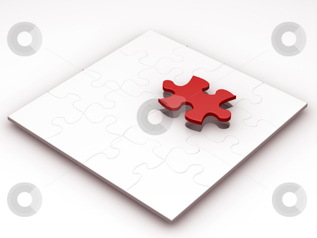 The final piece stock photo, 3D render of a puzzle with the final piece just being added by Kirsty Pargeter