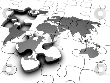 Puzzled Earth stock photo,  by Kirsty Pargeter
