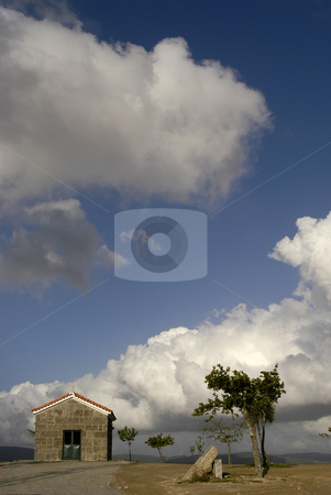 Chapel stock photo, Church in the top of the mountain by Rui Vale de Sousa