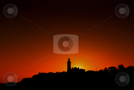 Lighthouse stock photo, Lighthouse at the coast of algarve, the south of portugal by Rui Vale de Sousa