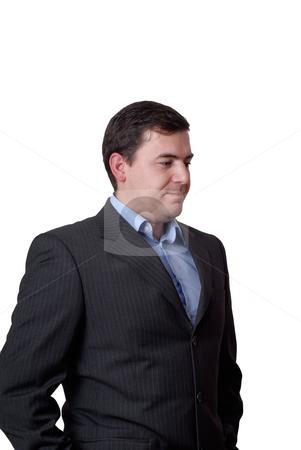 Portrait stock photo, Young confident businessman portrait isolated on white by Rui Vale de Sousa