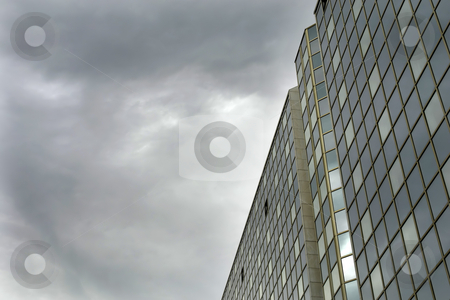 Glass stock photo, Modern mirror building detail and the sky by Rui Vale de Sousa