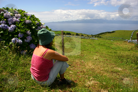 Life stock photo, Woman on the azores fields by Rui Vale de Sousa