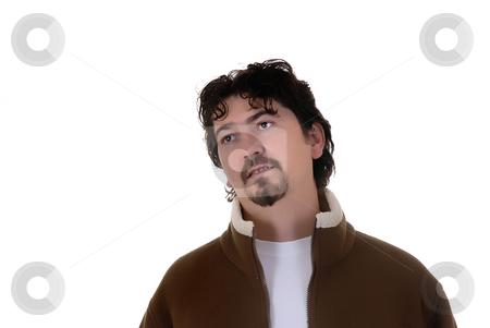 Portrait stock photo, Young casual man portrait in a white background by Rui Vale de Sousa