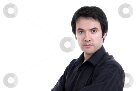 Casual stock photo, Young casual male portrait isolated on white by Rui Vale de Sousa