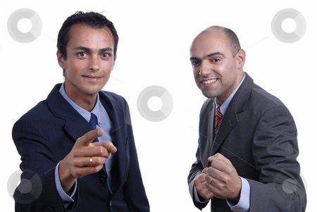 Two young stock photo, Two young business men portrait on white by Rui Vale de Sousa