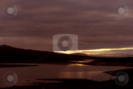 Lake stock photo, Lake at sunset in the north of portugal by Rui Vale de Sousa