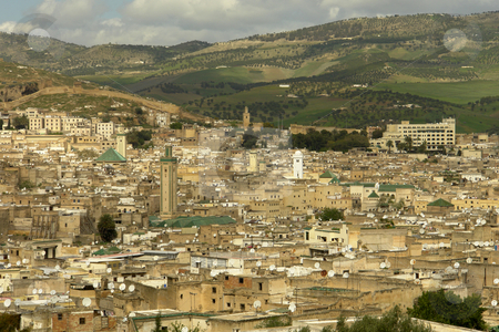 Morocco stock photo, View of Fez city, Morocco old twon by Rui Vale de Sousa