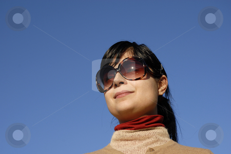 Girl stock photo, Young casual girl portrait in the sun light by Rui Vale de Sousa