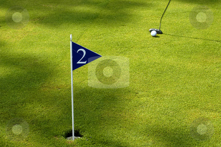 Golf stock photo, Golf flag by Rui Vale de Sousa