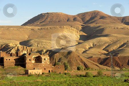 Atlas stock photo, Small village in the Atlas mountain, Morocco by Rui Vale de Sousa