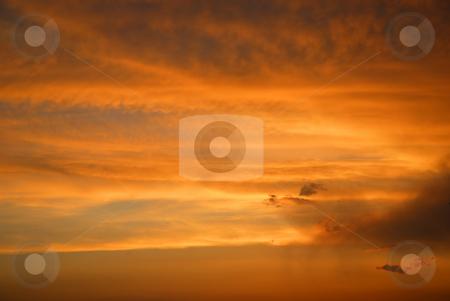Sky stock photo, Orange sunset sky by Rui Vale de Sousa