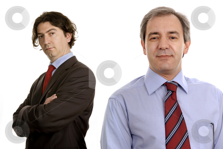 Portrait stock photo, Two business men portrait isolated on white by Rui Vale de Sousa