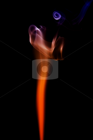 Smoke stock photo, Abstract colored smoke isolated on black background by Rui Vale de Sousa