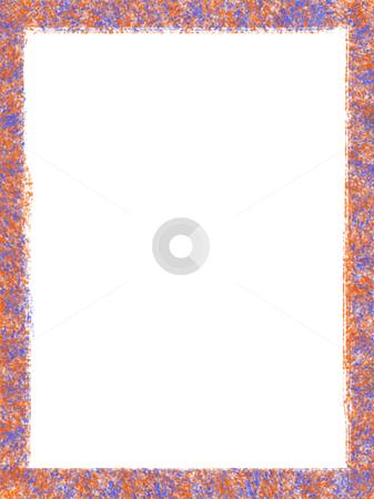 Frame stock photo, Decorative framework, some orange texture over white paper by Rui Vale de Sousa