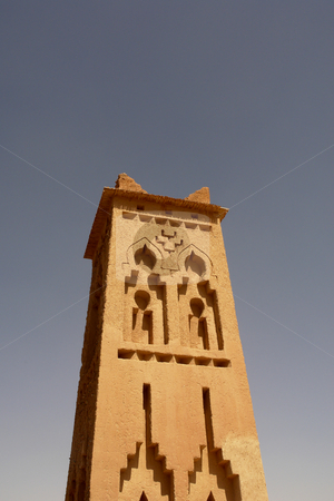 Tower stock photo, Old tower detail in Ait Ben Haddou, Marocco by Rui Vale de Sousa