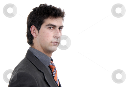Young stock photo, Young business man portrait in white background by Rui Vale de Sousa