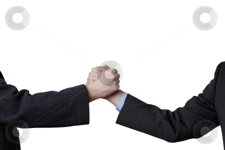 Shake stock photo, Men are shaking hands on a white background. by Rui Vale de Sousa