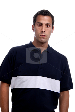 Casual stock photo, Casual young man portrait, isolated on white by Rui Vale de Sousa