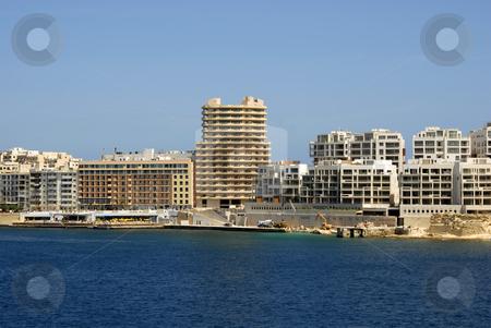 Malta stock photo, Big hotel in the coast at Malta island by Rui Vale de Sousa