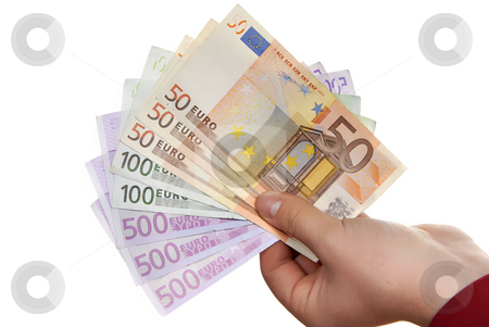 Money stock photo, Detail of man hand with lots of money by Rui Vale de Sousa