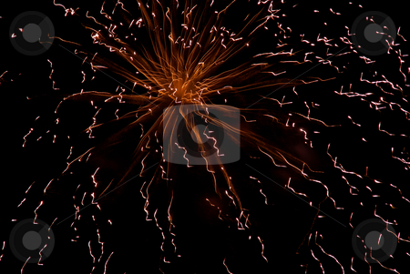 Fireworks stock photo, Abstract colored fireworks in the dark night by Rui Vale de Sousa