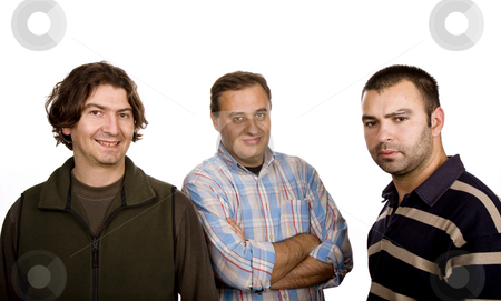 Three stock photo, Three casual man isolated on white background by Rui Vale de Sousa