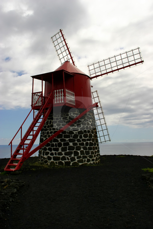 Windmill stock photo, Azores ancient windmill at sao miguel island by Rui Vale de Sousa
