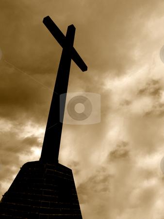 Cross stock photo, Cross in sepia by Rui Vale de Sousa
