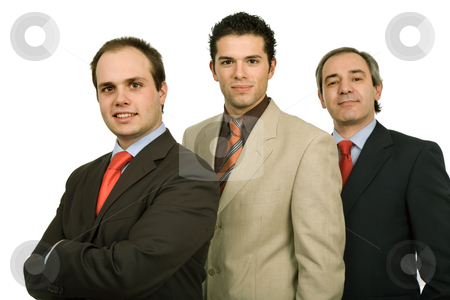 Team stock photo, Three business man isolated on white background by Rui Vale de Sousa