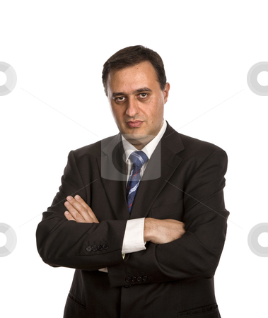Business men stock photo, Young business men portrait isolated on white by Rui Vale de Sousa