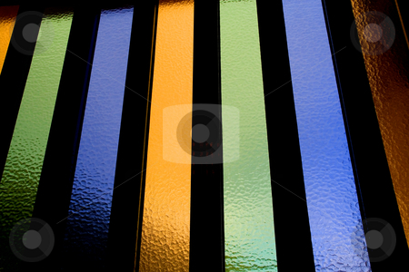 Window stock photo, Abstract colored and textured window glass detail by Rui Vale de Sousa