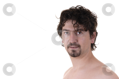 Skin stock photo, Nude young man portrait in white background by Rui Vale de Sousa