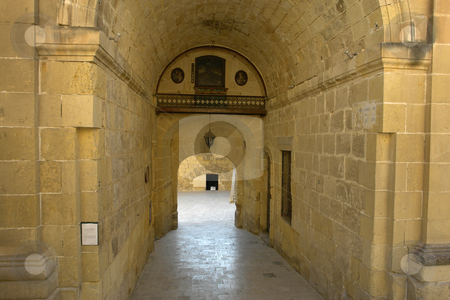 Arch stock photo, Ancient door in an old building at malta island by Rui Vale de Sousa