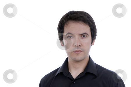 Male stock photo, Young casual male portrait isolated on white by Rui Vale de Sousa