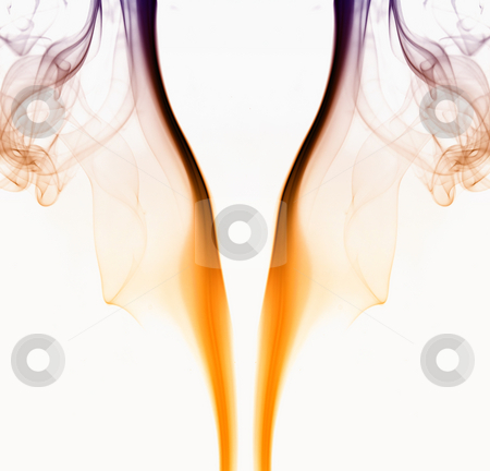 Smoke stock photo, Abstract colored smoke on a white background by Rui Vale de Sousa