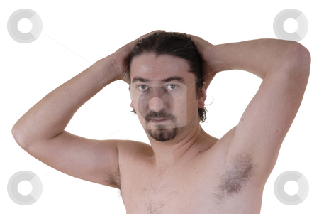 Male stock photo, Youg male without clothes in a white background portrait by Rui Vale de Sousa