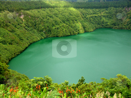 Lake stock photo, Azores lake of sao goncalo in sao miguel island by Rui Vale de Sousa