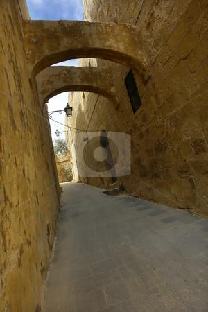 Alley stock photo, Ancient architecture of malta, in gozo island by Rui Vale de Sousa