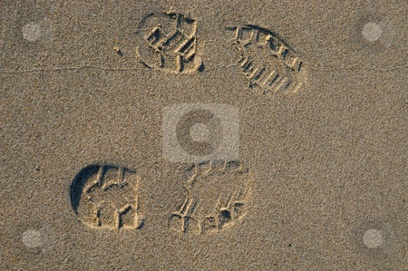 Sand stock photo, Footprints on the sand by Rui Vale de Sousa