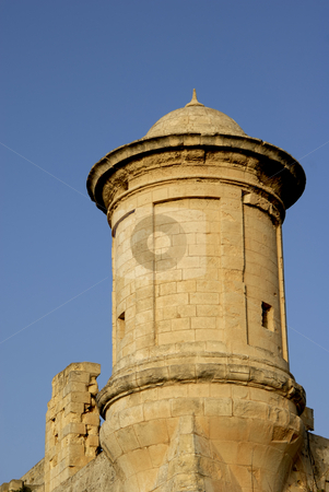 Watch stock photo, Ancient watch tower in the island of malta by Rui Vale de Sousa