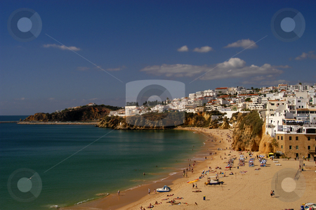 Beach stock photo, Beach and town by Rui Vale de Sousa