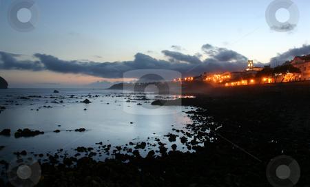 Night stock photo, Night on the coast by Rui Vale de Sousa