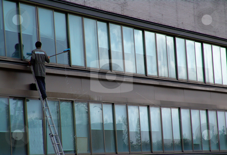 Clean stock photo, Man working in the building by Rui Vale de Sousa