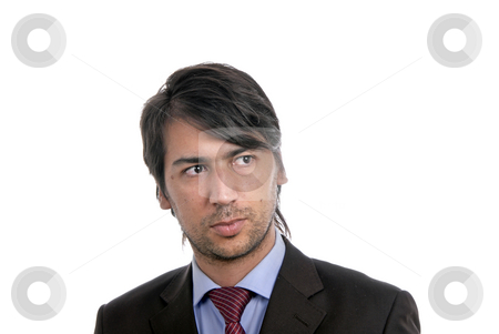Young stock photo, Young business men portrait isolated on white. by Rui Vale de Sousa