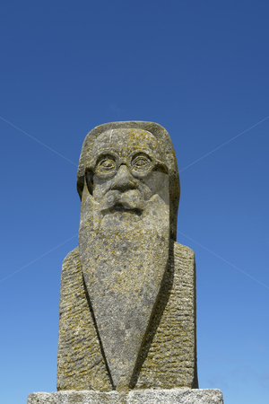 Statue stock photo, Male ancient statue with the sky as background by Rui Vale de Sousa