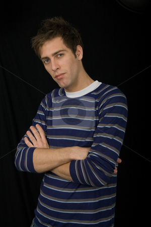 Casual stock photo, Young casual man against a black background by Rui Vale de Sousa