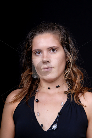 Casual stock photo, Young woman posing in black background in casual clothes by Rui Vale de Sousa